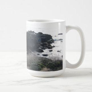 Climbing the Rocks on a Cambria Beach Mug