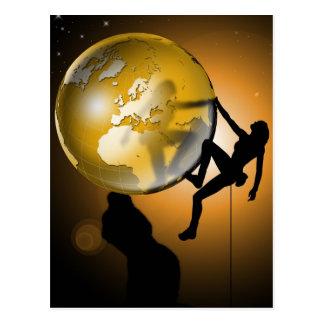 Climbing the world postcards