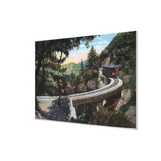 Climbing to Cloudland View Gallery Wrapped Canvas