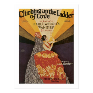 Climbing Up The Ladder Of Love Songbook Cover Postcard