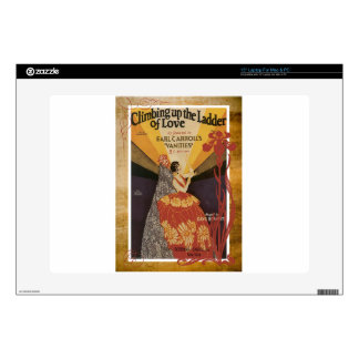 "Climbing Up The Ladder Of Love Vintage Sheet Music 15"" Laptop Skin"