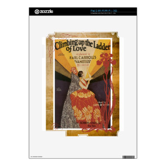 Climbing Up The Ladder Of Love Vintage Sheet Music Decal For The iPad 2
