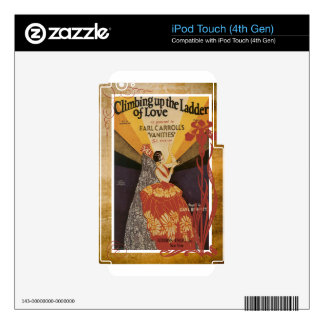 Climbing Up The Ladder Of Love Vintage Sheet Music Skins For iPod Touch 4G