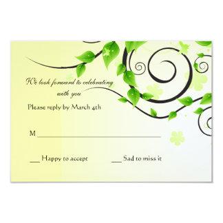 Climbing Vine Reply Card