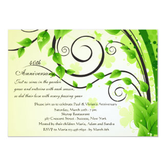 Garden Party 40th Birthday Invitations Announcements Zazzle