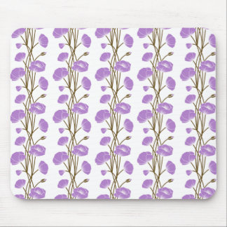 Climbing Vines of Lavender Roses Mousepads
