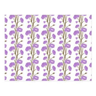 Climbing Vines of Lavender Roses Postcard