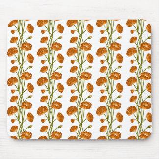 Climbing Vines of Orange Roses Mousepad