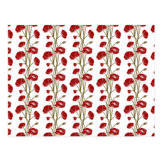 Climbing Vines of Red Roses Postcard