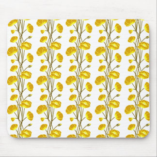 Climbing Vines of Yellow Gold Roses Mouse Pads