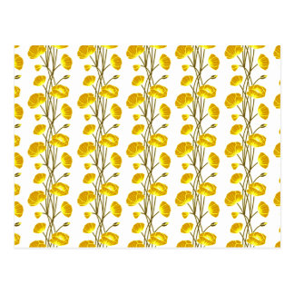 Climbing Vines of Yellow Gold Roses Postcard