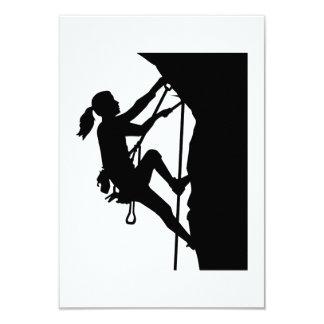 Climbing woman girl card