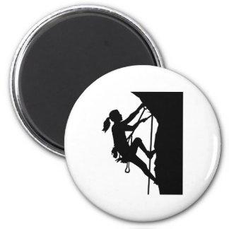 Climbing woman girl magnet