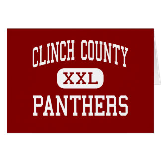 Clinch County - Panthers - High - Homerville Greeting Cards