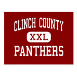 Clinch County - Panthers - High - Homerville Postcard