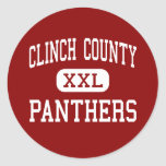 Clinch County - Panthers - High - Homerville Classic Round Sticker