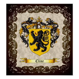Cline Shield / Coat of Arms Poster