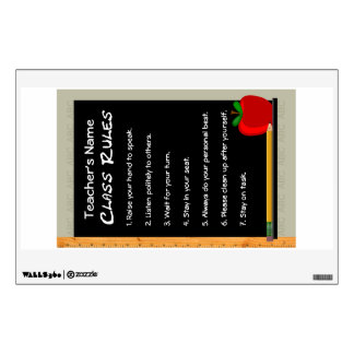 Cling Decal Poster - Class Rules Customizable