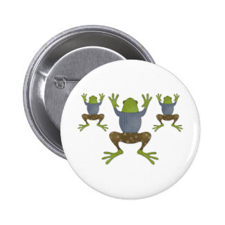 Clinging Frogs Buttons