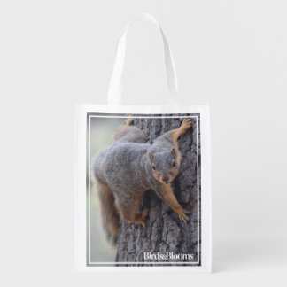 Clinging Squirrel Reusable Grocery Bag