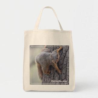 Clinging Squirrel Tote Bag