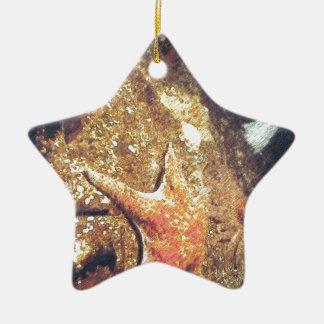 Clinging Starfish Ceramic Ornament
