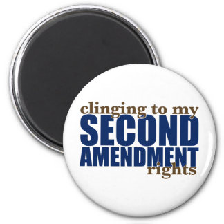 Clinging to my Second Amendment Rights 2 Inch Round Magnet
