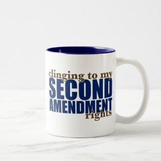 Clinging to my Second Amendment Rights Two-Tone Coffee Mug
