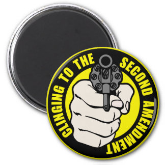 Clinging to the Second Amendment 2 Inch Round Magnet