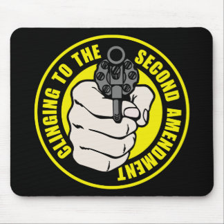 Clinging to the Second Amendment Mousepads