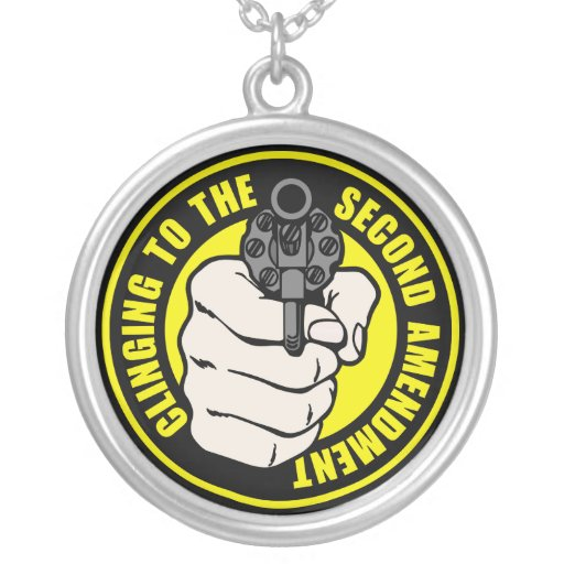 Clinging to the Second Amendment Necklace