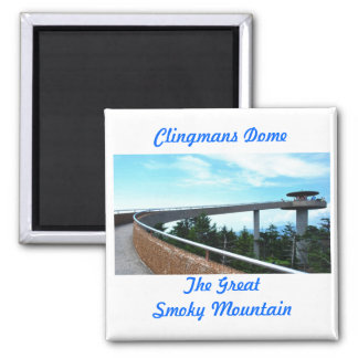 Clingmans Dome 2 Inch Square Magnet