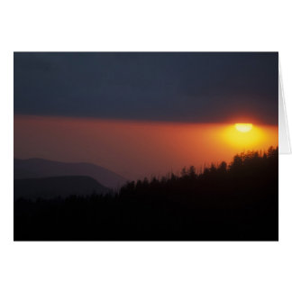 Clingmans Dome Sunset Smoky Mountains Card