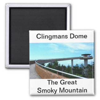 Clingmans Dome: The Smoky Mountain 2 Inch Square Magnet