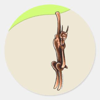 Clingy Red Rust Doberman Pinscher Classic Round Sticker