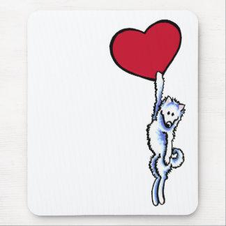 Clingy Samoyed Mouse Pad