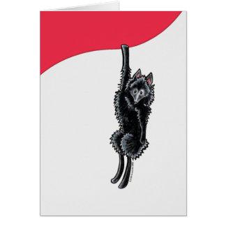 Clingy Schipperke Card