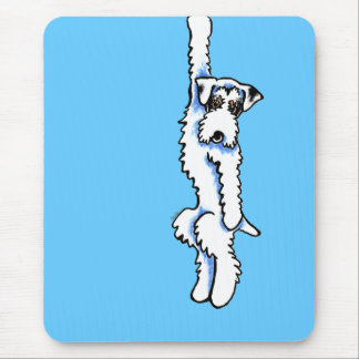 Clingy Sealyham Terrier Badger/White Mouse Pad