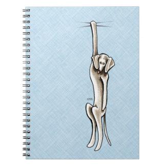 Clingy Weimaraner Spiral Notebook