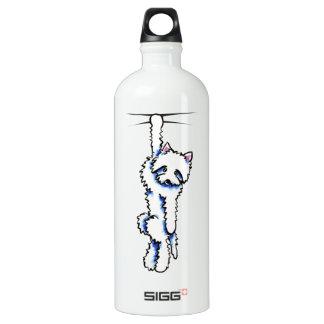 Clingy Westie Off-Leash Art™ Water Bottle