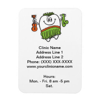 Clinic Promotional Magnet (Happy Hoola Tooth) Vinyl Magnet