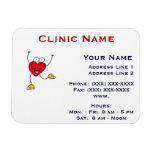 Clinic Promotionl Magnet -Horizonttl/Dancing Heart