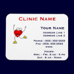 Clinic Promotionl Magnet -Horizonttl/Dancing Heart magnets