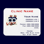 Clinic Promotionl Magnet -Horizonttl/Happy Eyes magnets