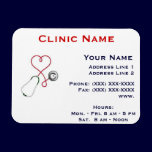 Clinic Promotionl Magnet -Horizonttl/Heart Dr. magnets