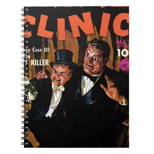 Clínica #11 - maniquí del crimen del asesino libreta