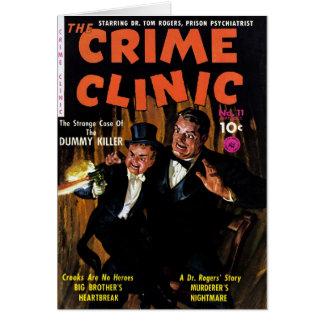 Clínica #11 - maniquí del crimen del asesino tarjeta de felicitación