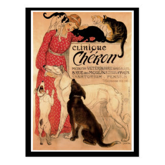 Clínica Chéron del vintage de Steinlen Postal