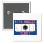 Clínica de hockey del trineo pins