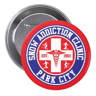 Clínica del apego de la nieve de Park City Pin Redondo 7 Cm